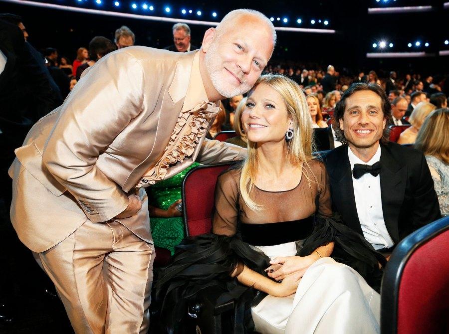Ryan Murphy Gwyneth Paltrow and Brad Falchuk Inside Emmys 2019