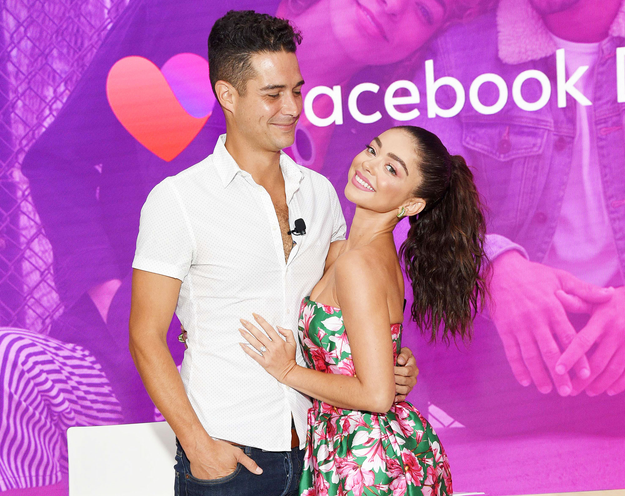 Wells Adams and Sarah Hyland at Facebook Dating Launch More Excited for Life Than Wedding Planning