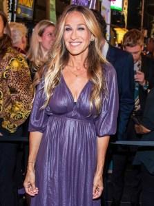 Sarah Jessica Parker Purple Dress September 5, 2019