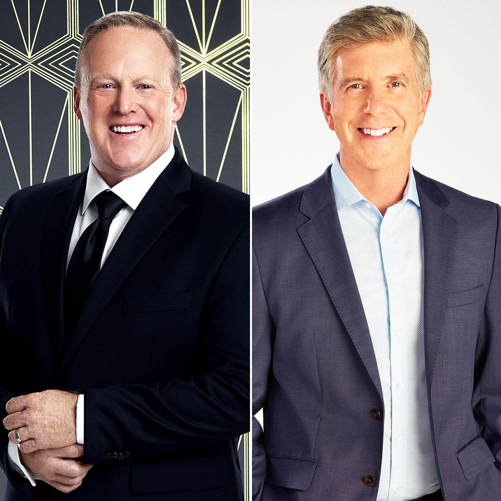 Sean Spicer Bumped Into Tom Bergeron in Hallway After DWTS Casting Controversy