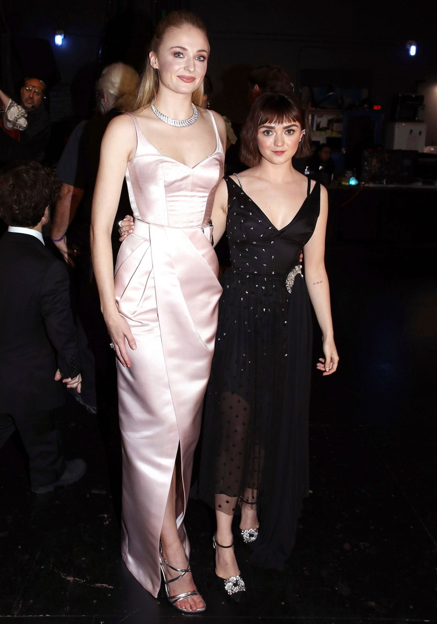 Sophie Turner and Maisie Williams Inside Emmys 2019