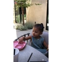 Stormi Dips Bacon in Syrup