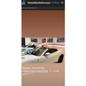 Tarek El Moussa Buys Girlfriend Heather Rae Young Ferrari 32nd Birthday