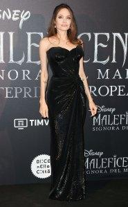 Angelina Jolie Black Gown October 7, 2019