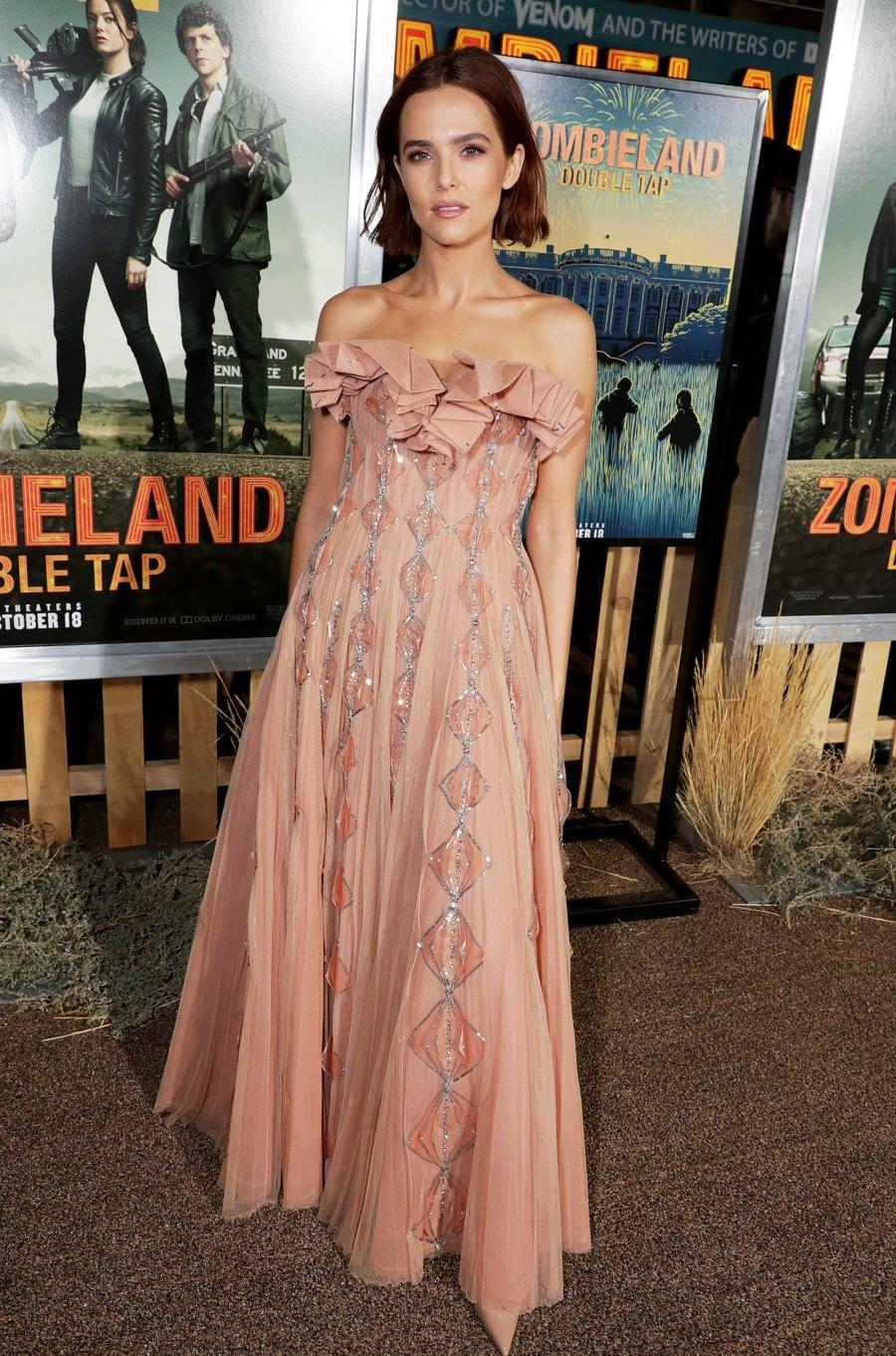 Zoey Deutch Dusty Rose Gown October 10, 2019