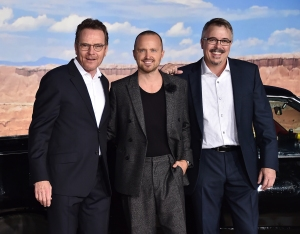 Bryan Cranston, Aaron Paul and Vince Gilligan 'El Camino: A Breaking Bad Movie' film premiere