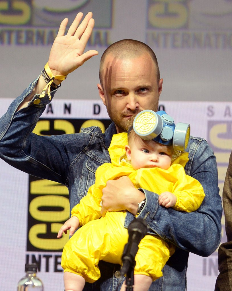 Aaron Paul and daughter Story Annabelle Paul Breaking Bad