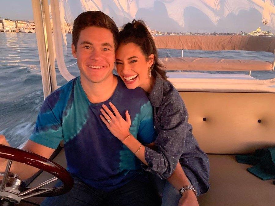 Adam Devine and Chloe Bridges Instagram Engagement