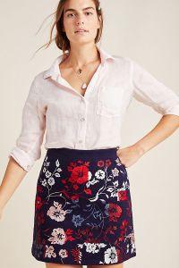 Alene Embroidered Mini Skirt