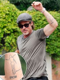 All of Brad Pitt's Tattoos - Left Forearm