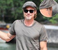 All of Brad Pitt's Tattoos - Left Bicep