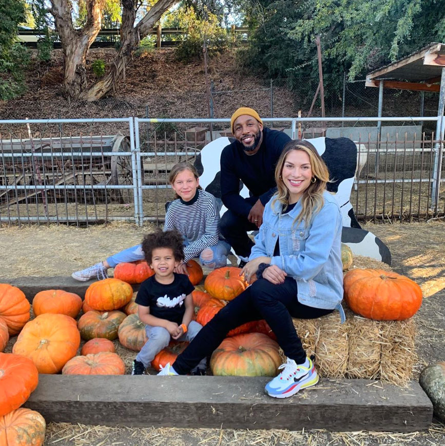 Allison Holker and Stephen 'tWitch' Boss Celebrity Families Visiting Pumpkin Patches