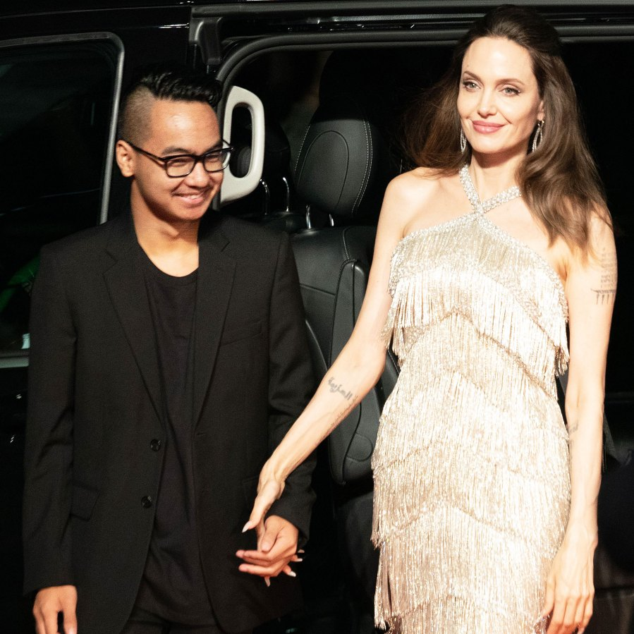 Angelina Jolie Reunites With Maddox at Maleficent Mistress of Evil Premiere