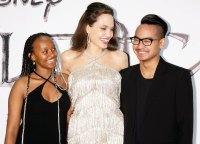 Zahara Jolie-Pitt Angelina Jolie Reunites With Maddox at Maleficent Mistress of Evil Premiere
