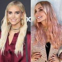 "Ashlee Simpson Hair Change Blonde to ""Pumpkin Pink"""