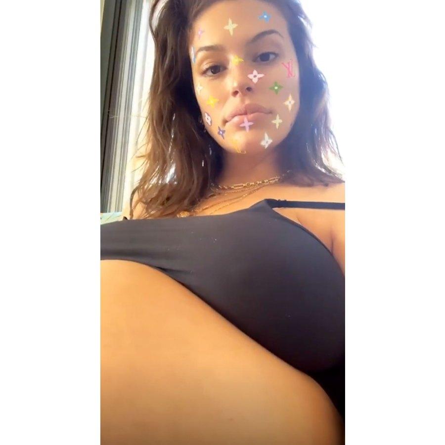Ashley Graham's Pregnancy Pics October Sports Bra Selfie