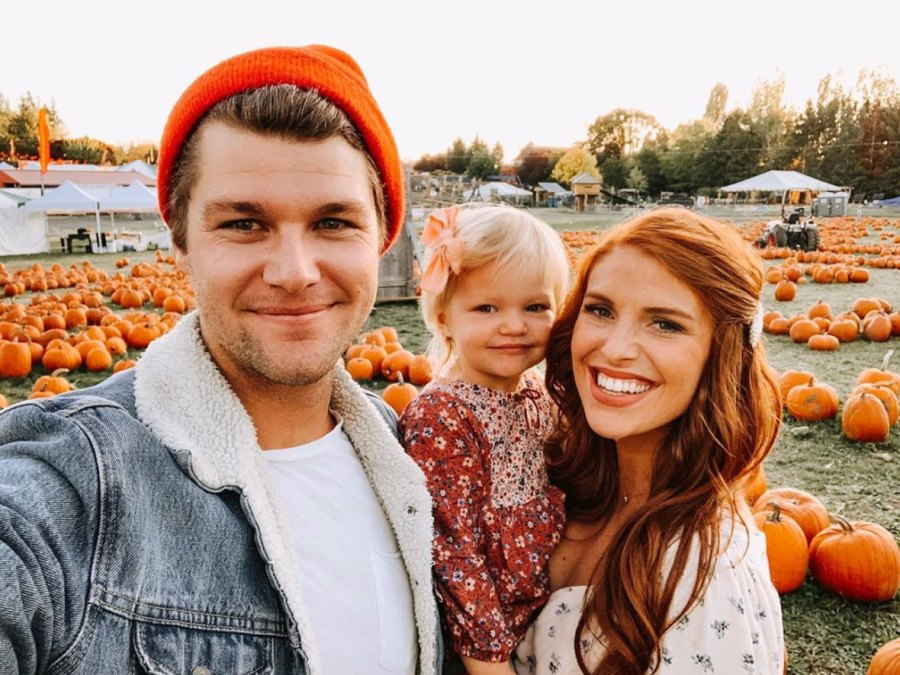 Audrey and Jeremy Roloff Celebrity Families Visiting Pumpkin Patches