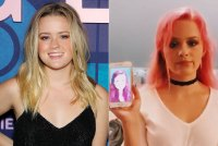 Ava Philippe Hair Change Blonde to Pink Hair