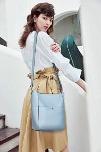 BROMAN Shoulder Bucket Bag model shot