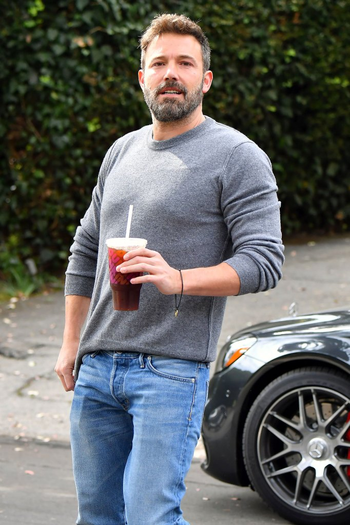 Ben Affleck Drinking Coffee Heads To Garner House