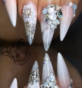Bride Fathers Ashes Wedding Nails