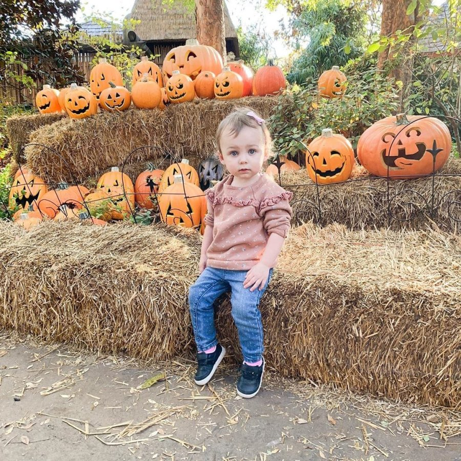 Celebrity Kids Pumpkin Patch Carly Waddell and Evan Bass