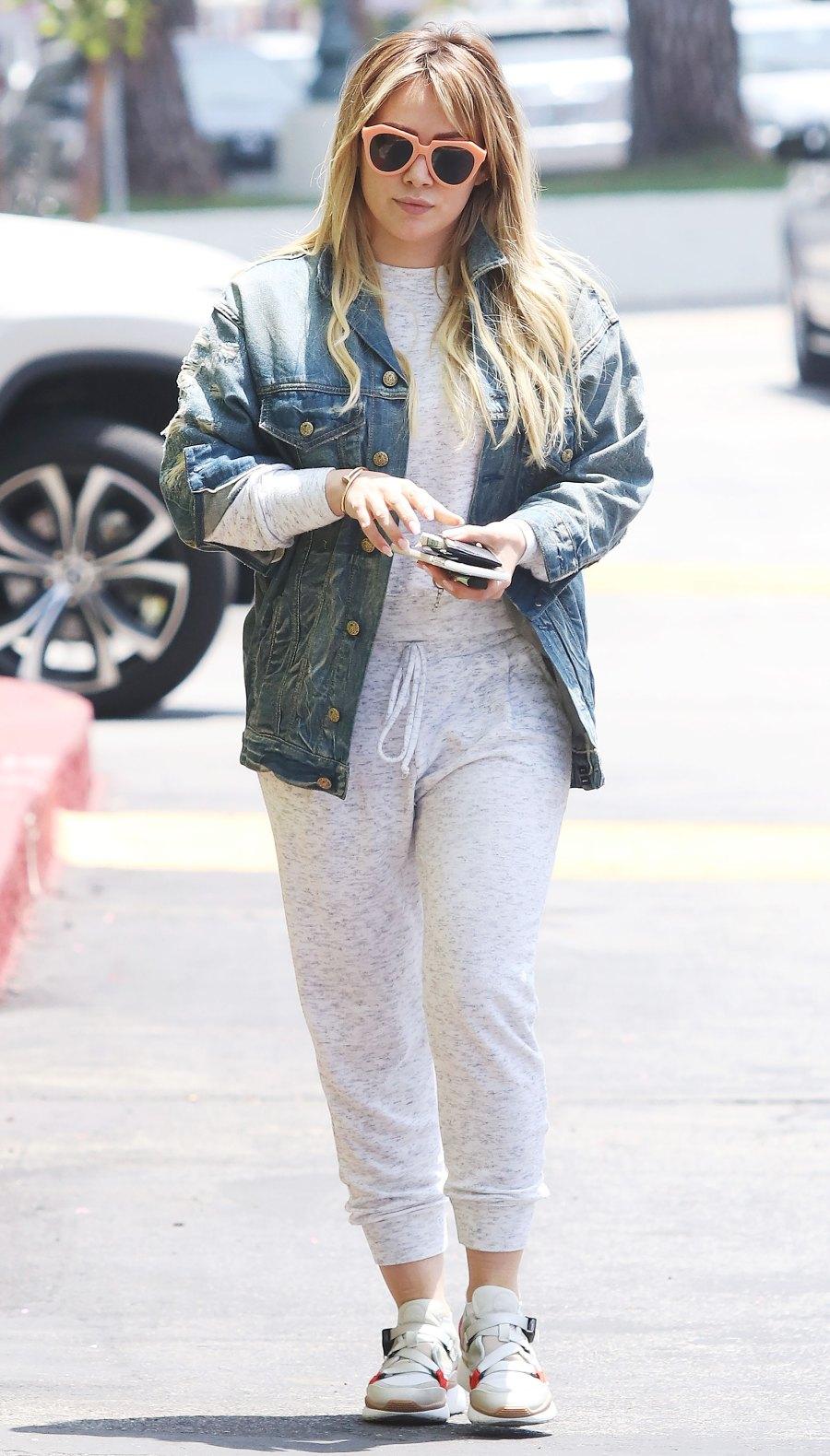 Celebs Wearing Sweats - Hilary Duff