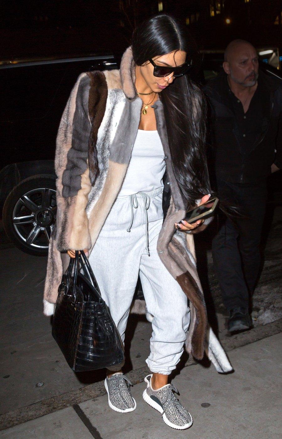 Celebs Wearing Sweats - Kim Kardashian