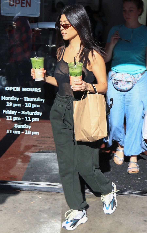 Celebs Wearing Sweats - Kourtney Kardashian