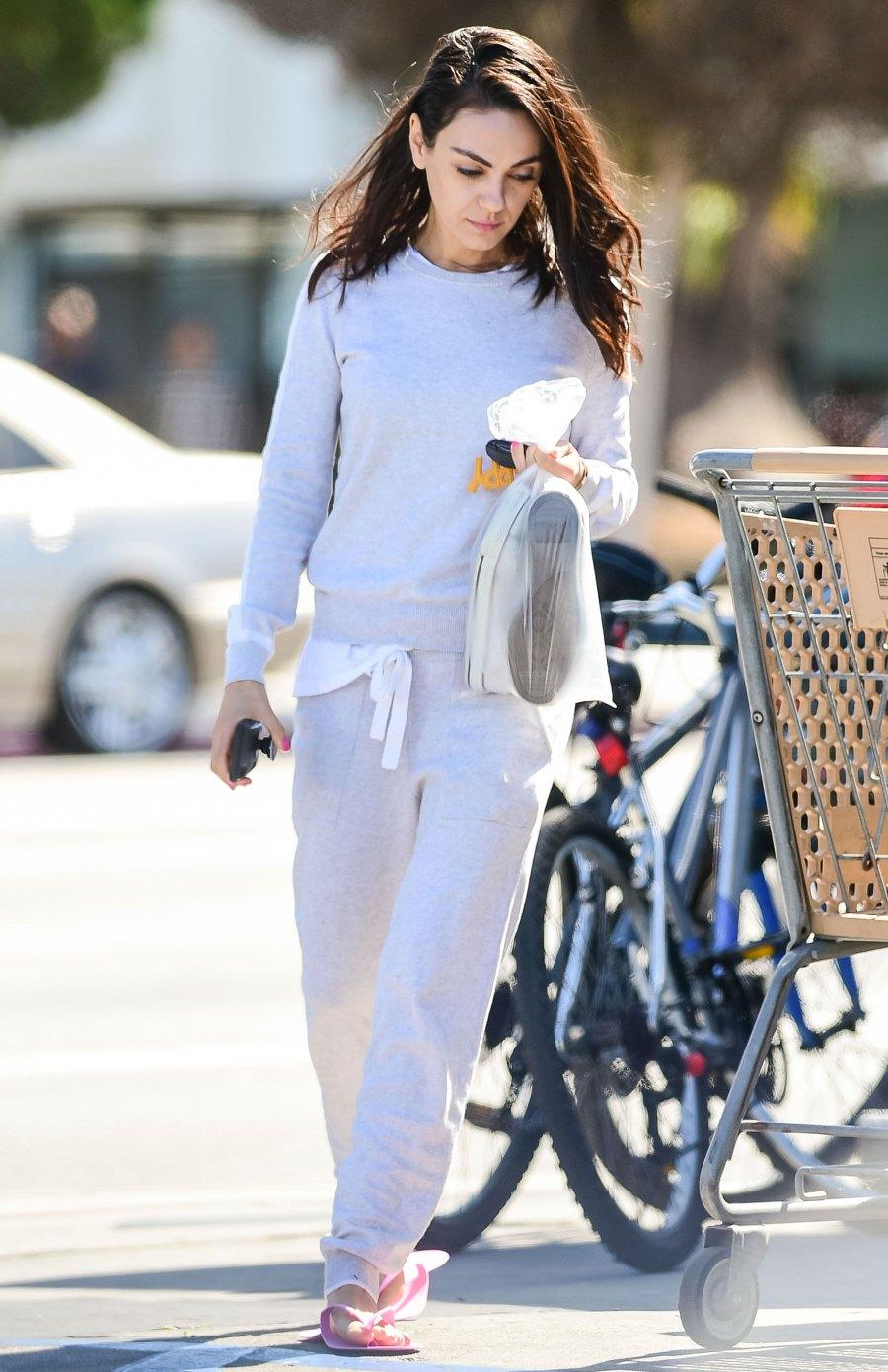 Celebs Wearing Sweats - Mila Kunis
