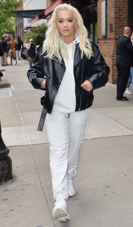 Celebs Wearing Sweats - Rita Ora