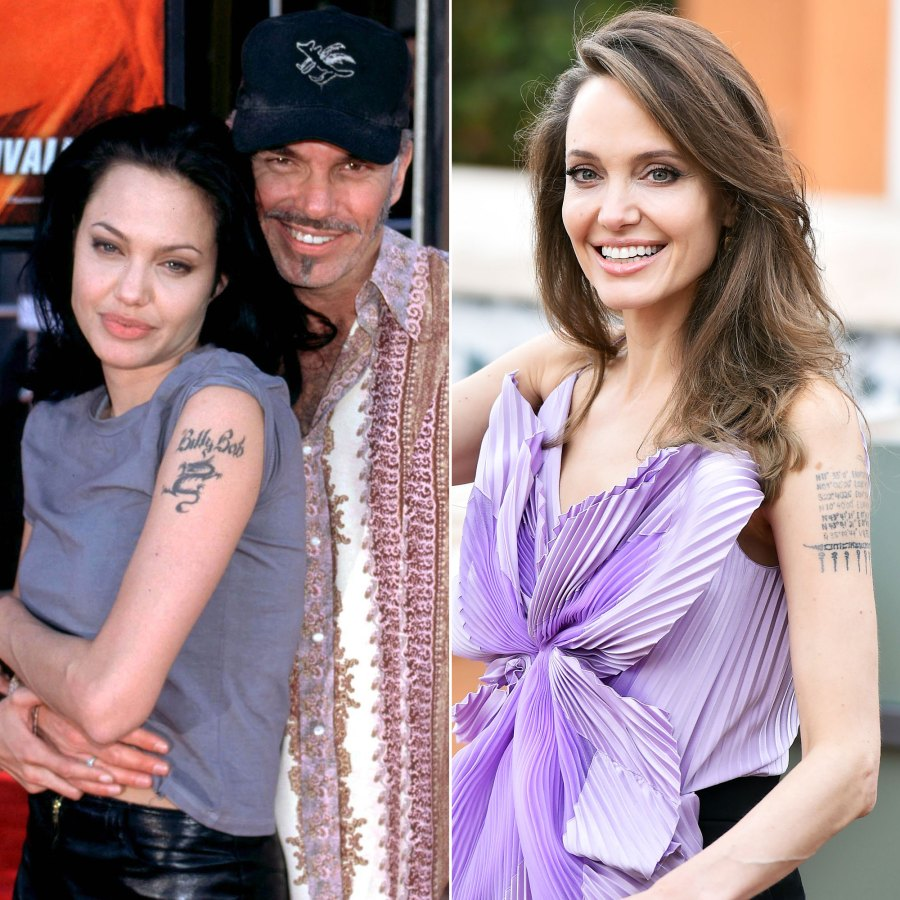 Celebs Who Covered Tattoos For Their Exes - Angelina Jolie