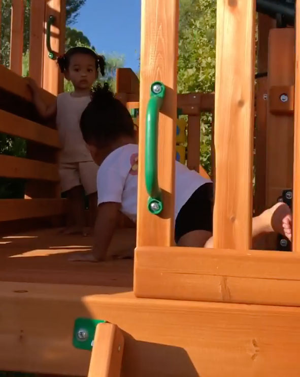 Chicago and Stormi Playset Kylie Jenner Instagram