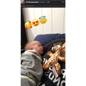Christina Anstead Celebrates One Month With Son Hudson