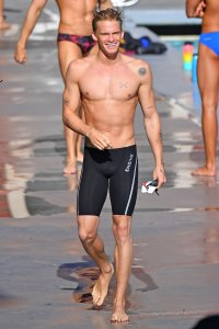 Cody Simpson USC Swimming Shirtless