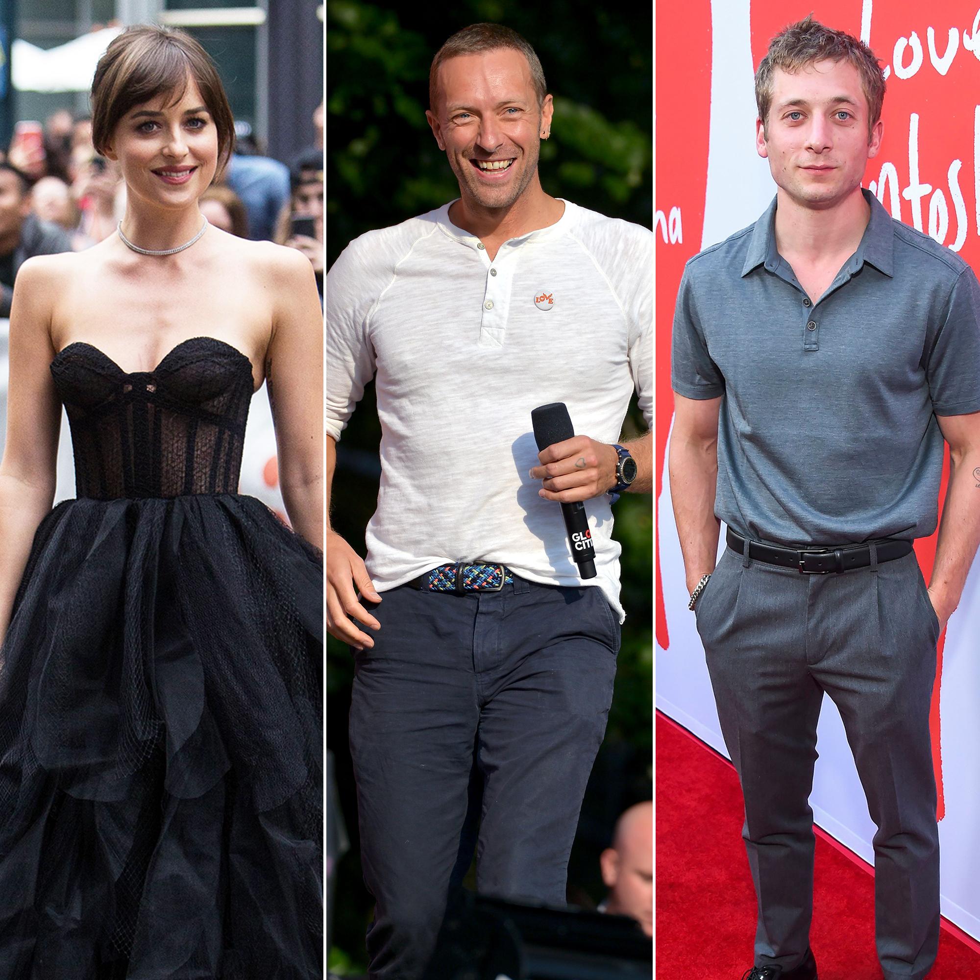 Dakota Johnson, Chris Martin Attend Jeremy Allen White's ...