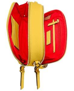 Dooney & Bourke Saffiano Leather Sawyer Crossbody yellow
