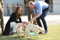 Duchess Kate Prince William Play With Pups on Last Day in Pakistan