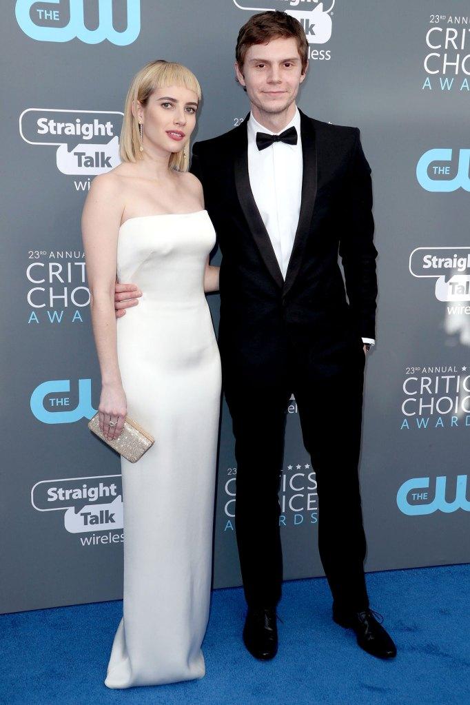 Emma Roberts and Evan Peters Critics' Choice Awards