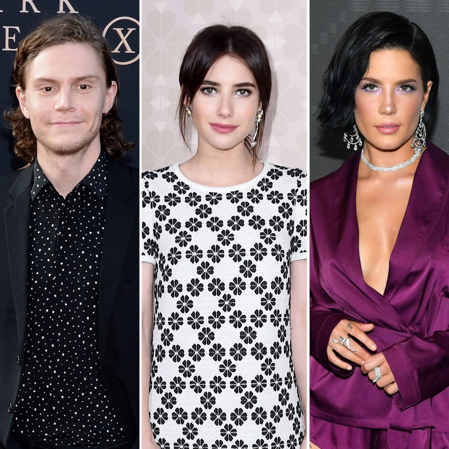Evan Peters Wearing Saint Laurent, Yves, YSL, Emma Roberts Wearing Kate Spade and Halsey Wearing Savage x Fenty Toxic Relationship