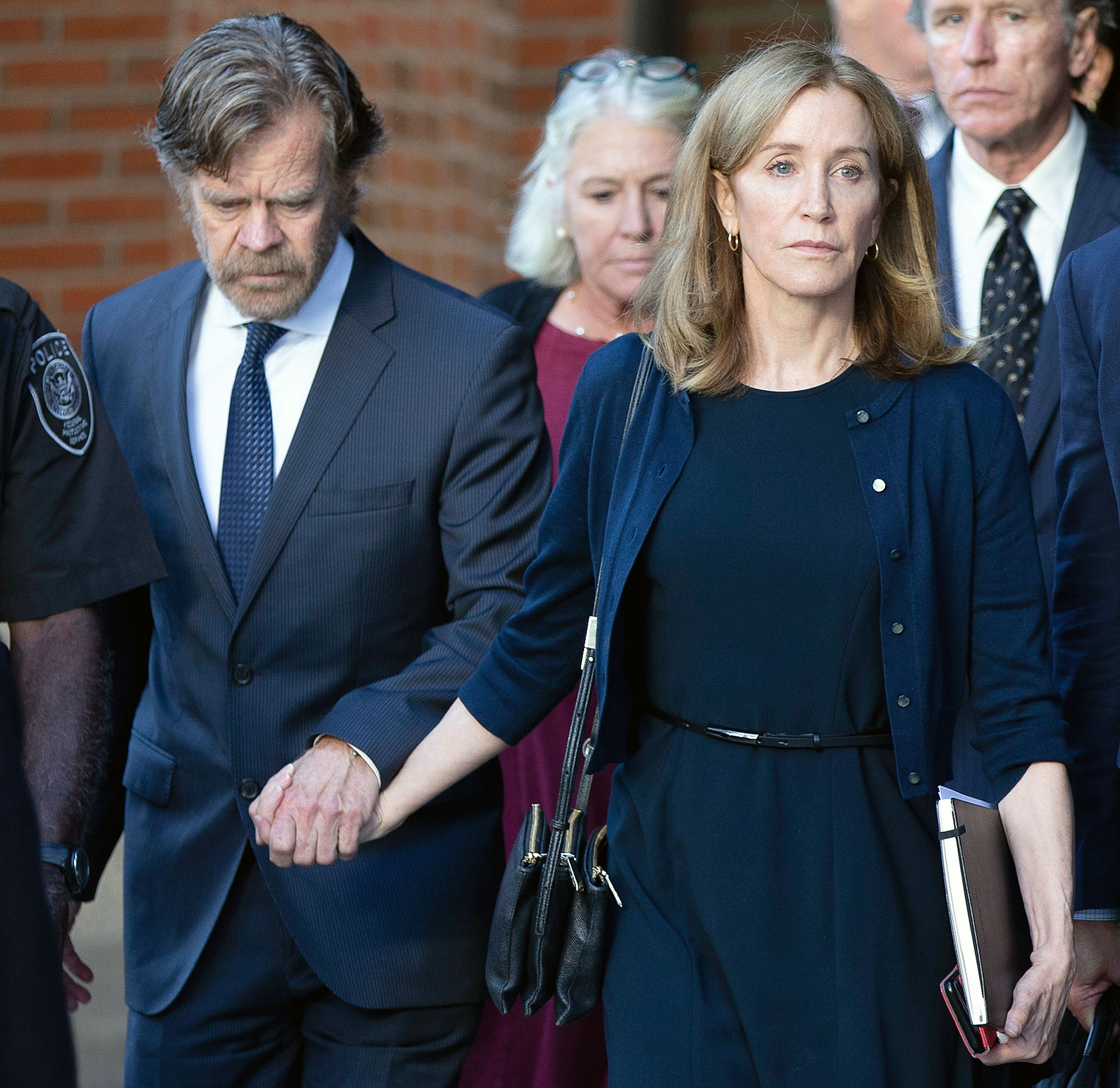 William H Macy and Felicity Huffman Out Court Felicity Huffman Reports to California Prison for 14-Day Sentence