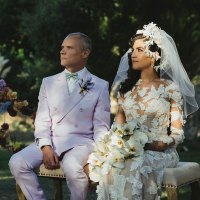 Flea Married Melody Ehsani Red Hot Chili Peppers RHCP Wedding Photo