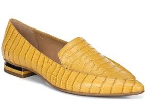Franco Sarto Starland Flats yellow croc