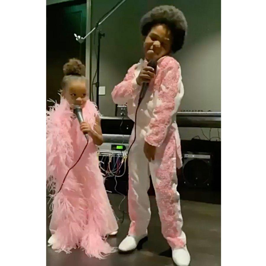 Halloween Costumes Future Wilburn and Sienna Wilson
