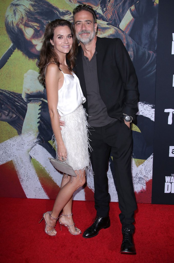 Hilarie Burton and Jeffrey Dean Morgan Walking Dead Red Carpet Married