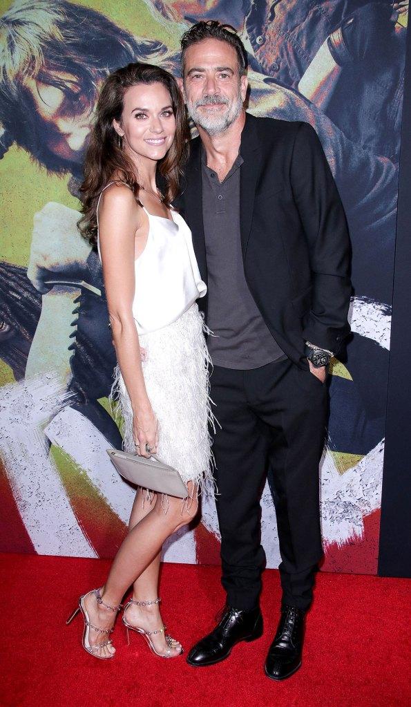 Hilarie Burton and Jeffrey Dean Morgan Walking Dead