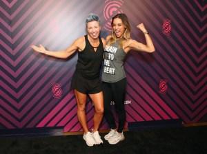 Jana Kramer and her trainer Erin Oprea