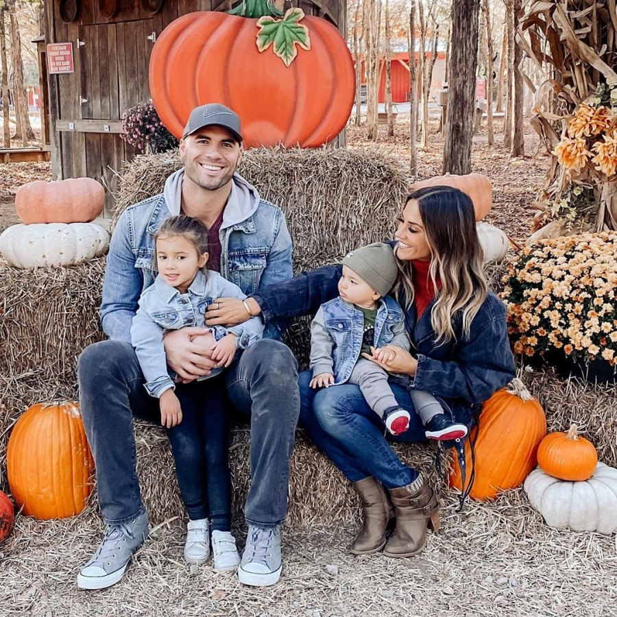 Jana Kramer and Mike Caussin Pumpkin Patch With Kids