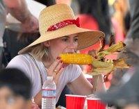 January Jones Eating Corn on the Cob