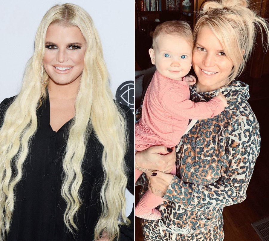 Jessica Simpson Goes Makeup Free Before and After
